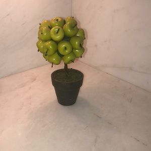 Potted green apple accessory